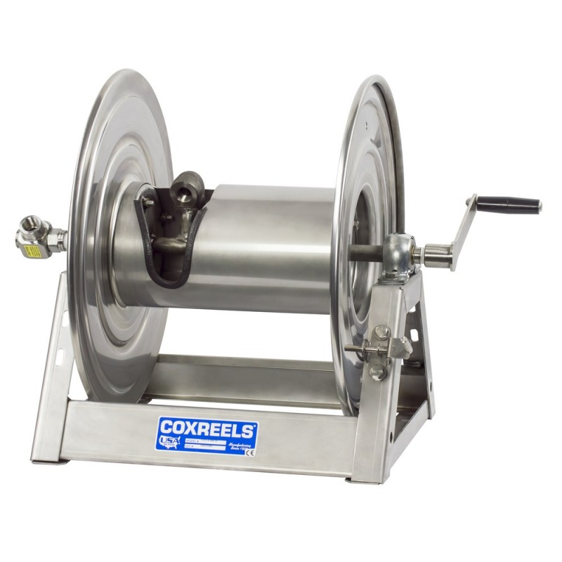 Coxreels 1125-5-200-SP Stainless Steel Hand Crank Hose Reel 3/4inx200ft no hose (9)